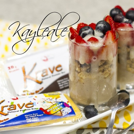 Krave's Raw cookie dough parfait